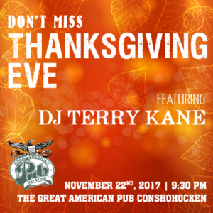 Thanksgiving Eve with DJ Terry Kane