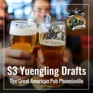 $3 Yuengling Drafts
