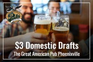 $3 Domestic Drafts