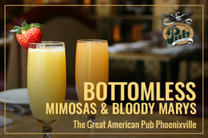 Brunch - $15 Bottomless Mimosas & Bloody Marys!